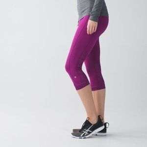 Lululemon Run For Days Crop Regal Plum Camo